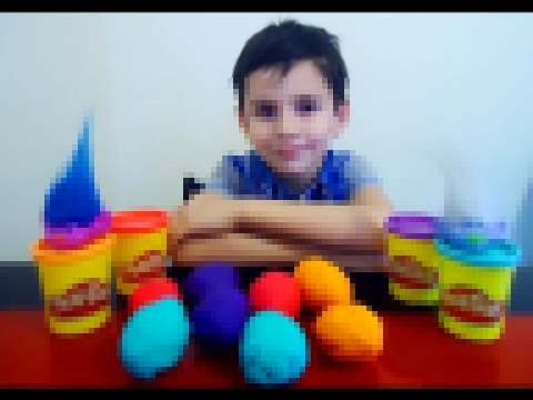 Тролли Play Doh   Киндер Сюрпризы Игрушки  Play Doh Kinder Surprise Toys Trolly