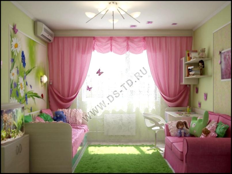 Дизайн детской для девочки 12 кв м