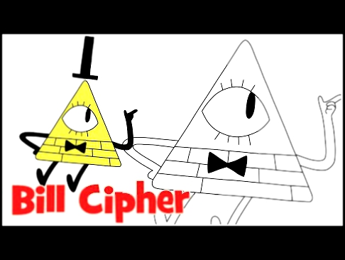 How to draw Bill Cipher Gravity Falls step by step easy drawing for kids