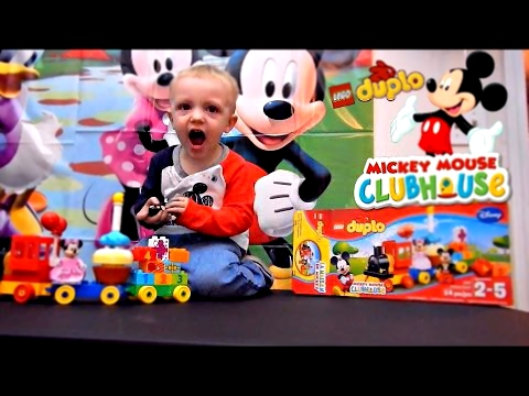 MICKEY MOUSE BIRTHDAY PARADE TRAIN LEGO DUPLO SET 10597 MICKEY MOUSE CLUBHOUSE KIDS TOYS Jax Reacts