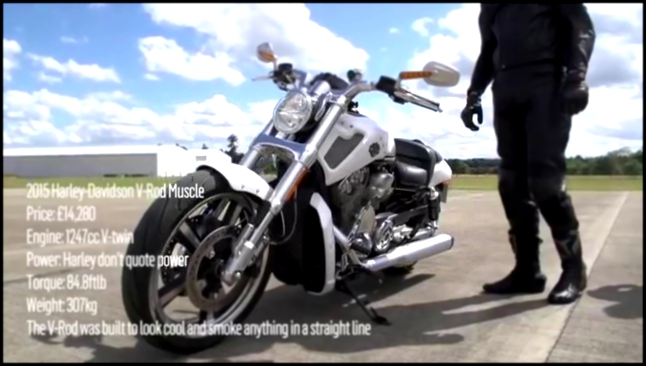 Ford Mustang против Harley Davidson V Rod Muscle