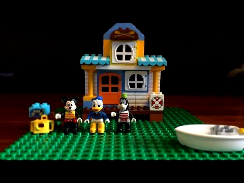 Lego Duplo Mickey & Friends Beach House - Stop Motion Animation 10827