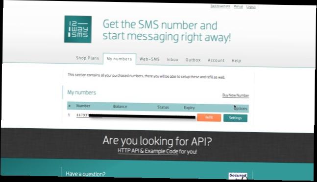 Получить sms на виртуальный номер бесплатно