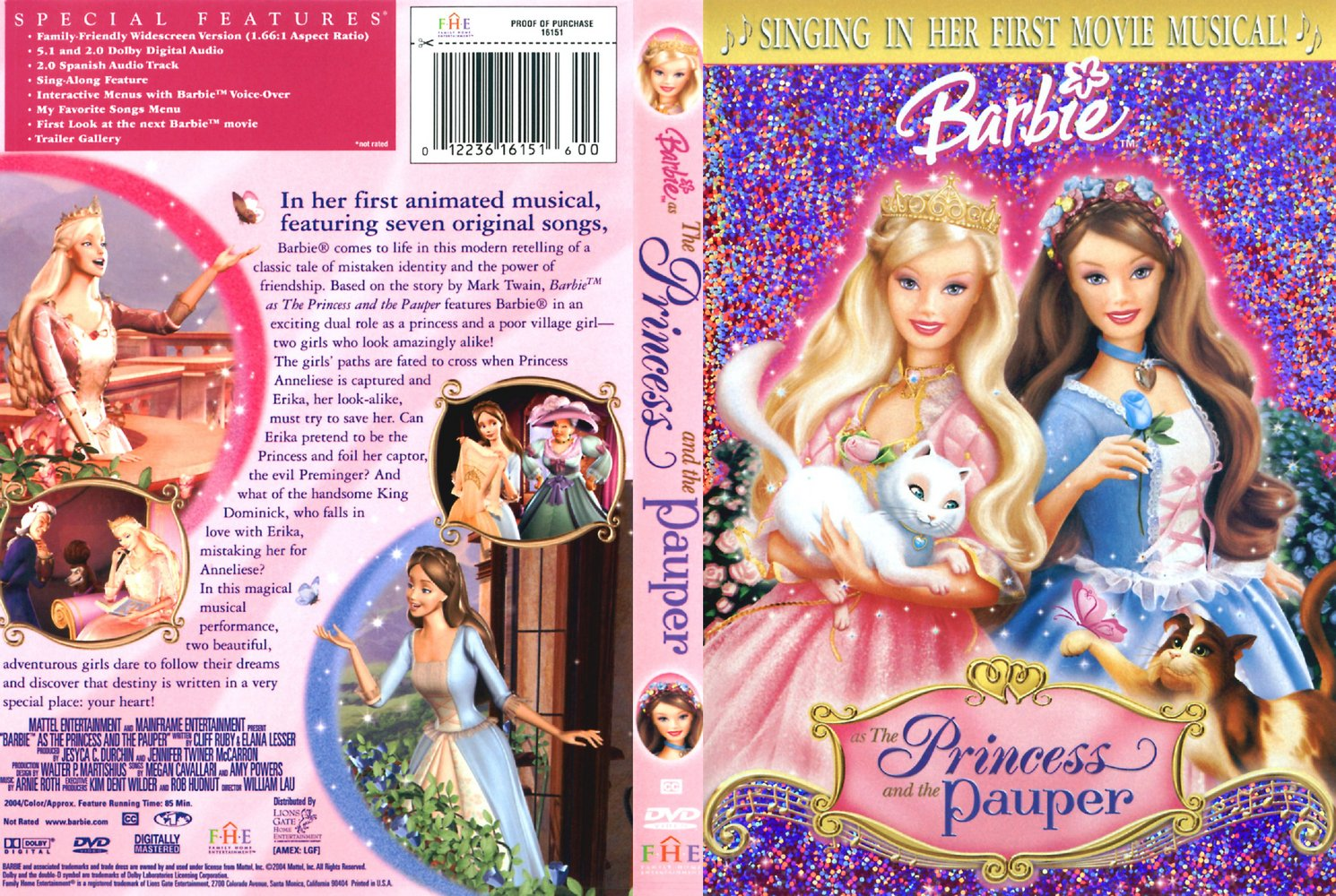 Barbie as The Princess and the Pauper - Written in Your Heart  (Japanese)
