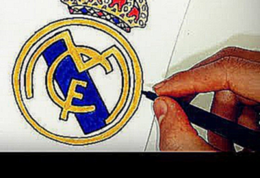 Como desenhar o escudo do Real Madrid CF - How to Draw the Real Madrid Logo CF