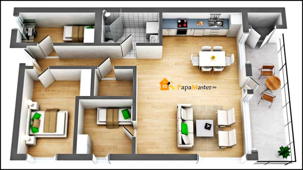 Дизайн дома 9 на 8