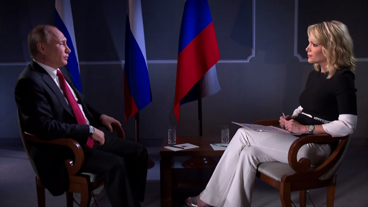 Путин дал интервью американскому телеканалу NBC News /  Putin Interview with Megyn Kelly
