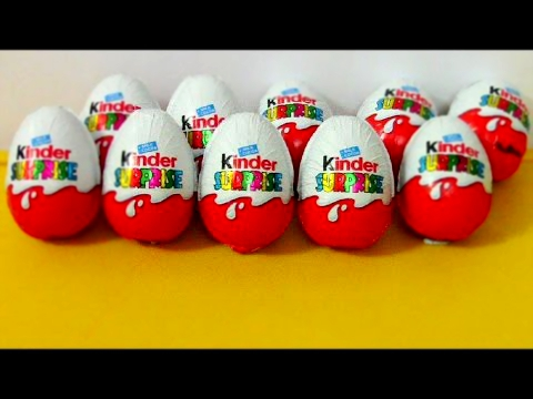 KINDER Surprise Eggs-UNBELIEVABLE toys! Unwrap & unbox 10 eggs download photos