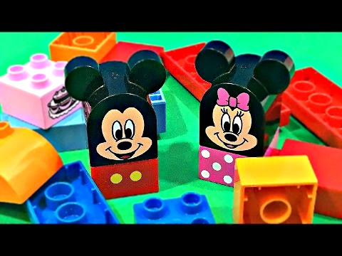DISNEY LEGO duplo Mickey & Minnie Mouse Clubhouse Cafe - Stop Motion - HappySnappyTime