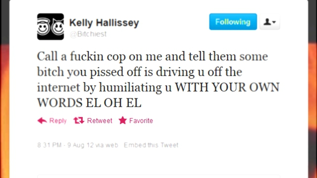 Kelly Hallissey and Neal Rauhauser amusing themselves over swatting