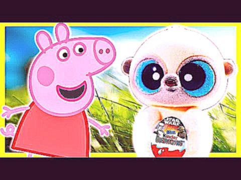 Peppa Pig cartoon Yoohoo gave the Kinder Surprise Egg for Peppa with Star Wars Toys for Kids
