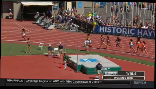 Raevyn Rogers 1:59.71 Goule fades after 56.15 1st lap women's 800m Final NCAA Outdoors 2015